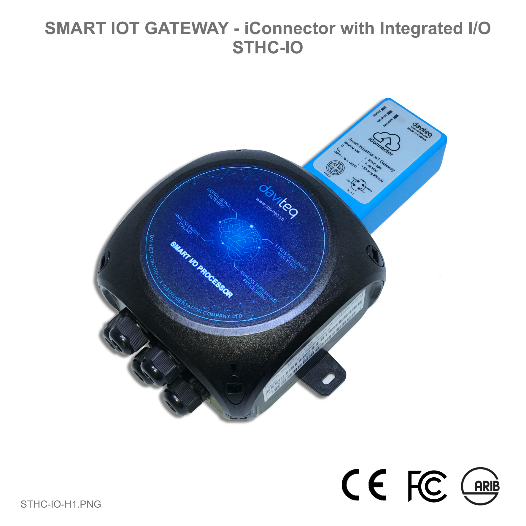Smart IoT Gateway - iConnector with integrated IO module