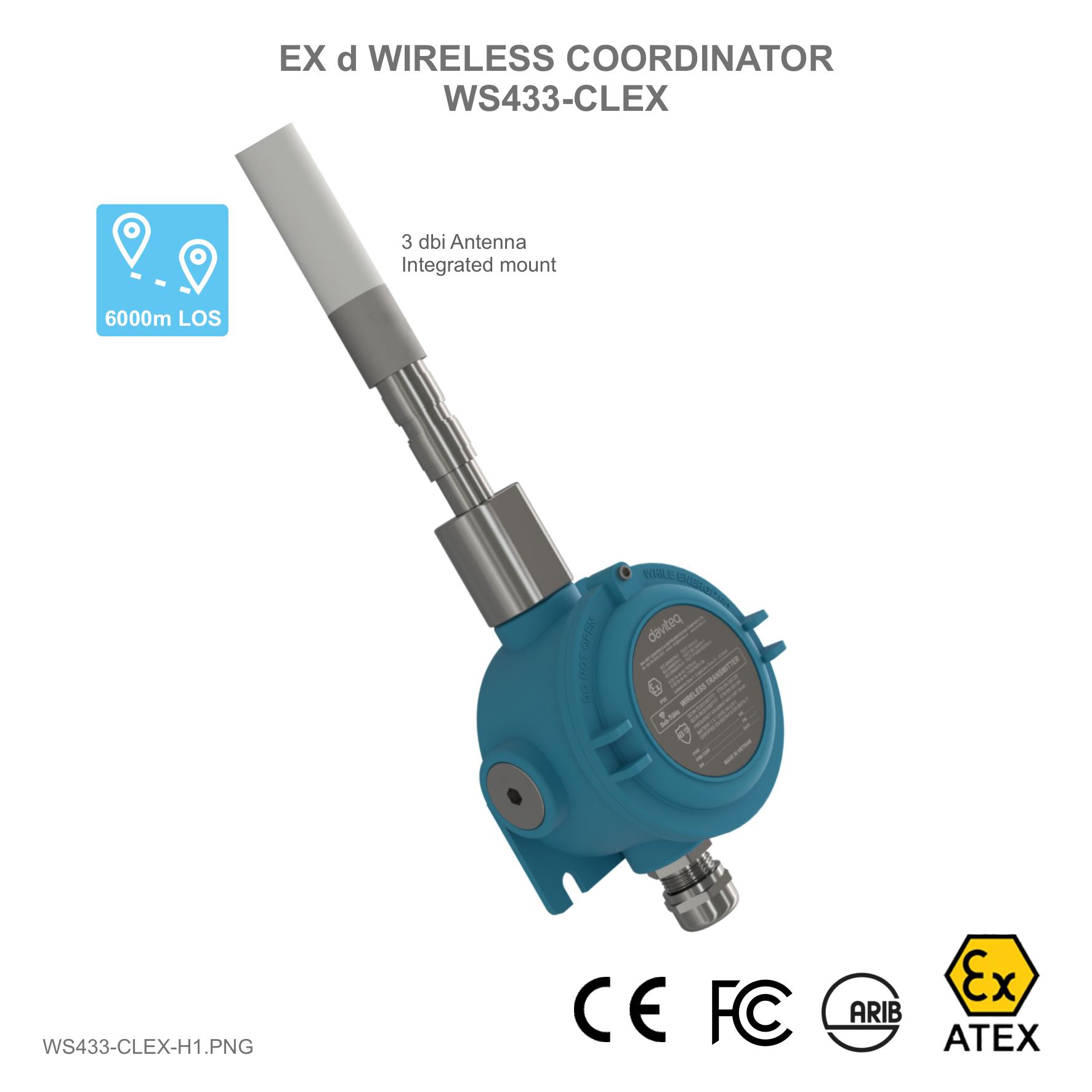 Bộ thu tín hiệu cho cảm biến không dây với chứng nhận phòng nổ Ex