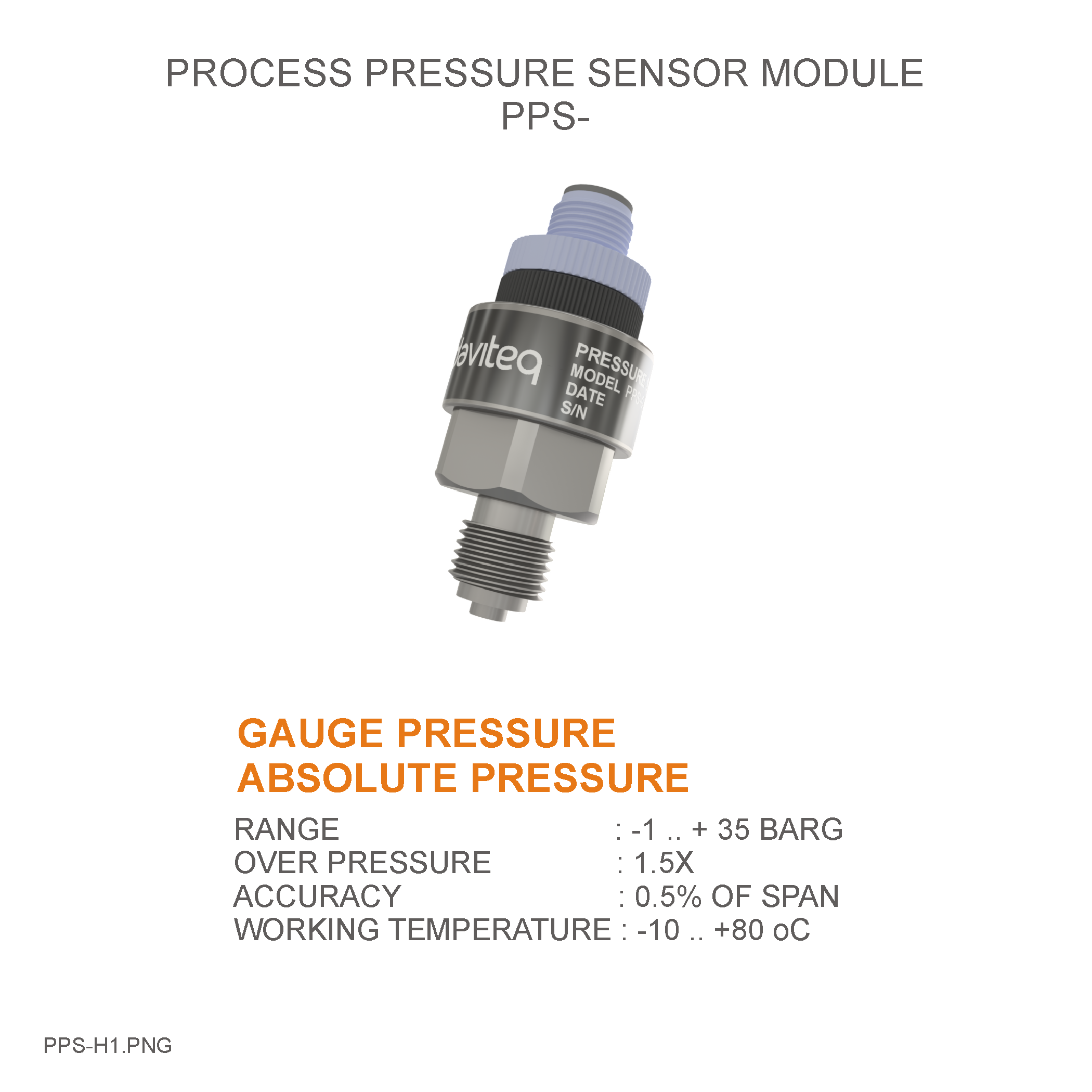 Module cảm biến đo áp suất Process