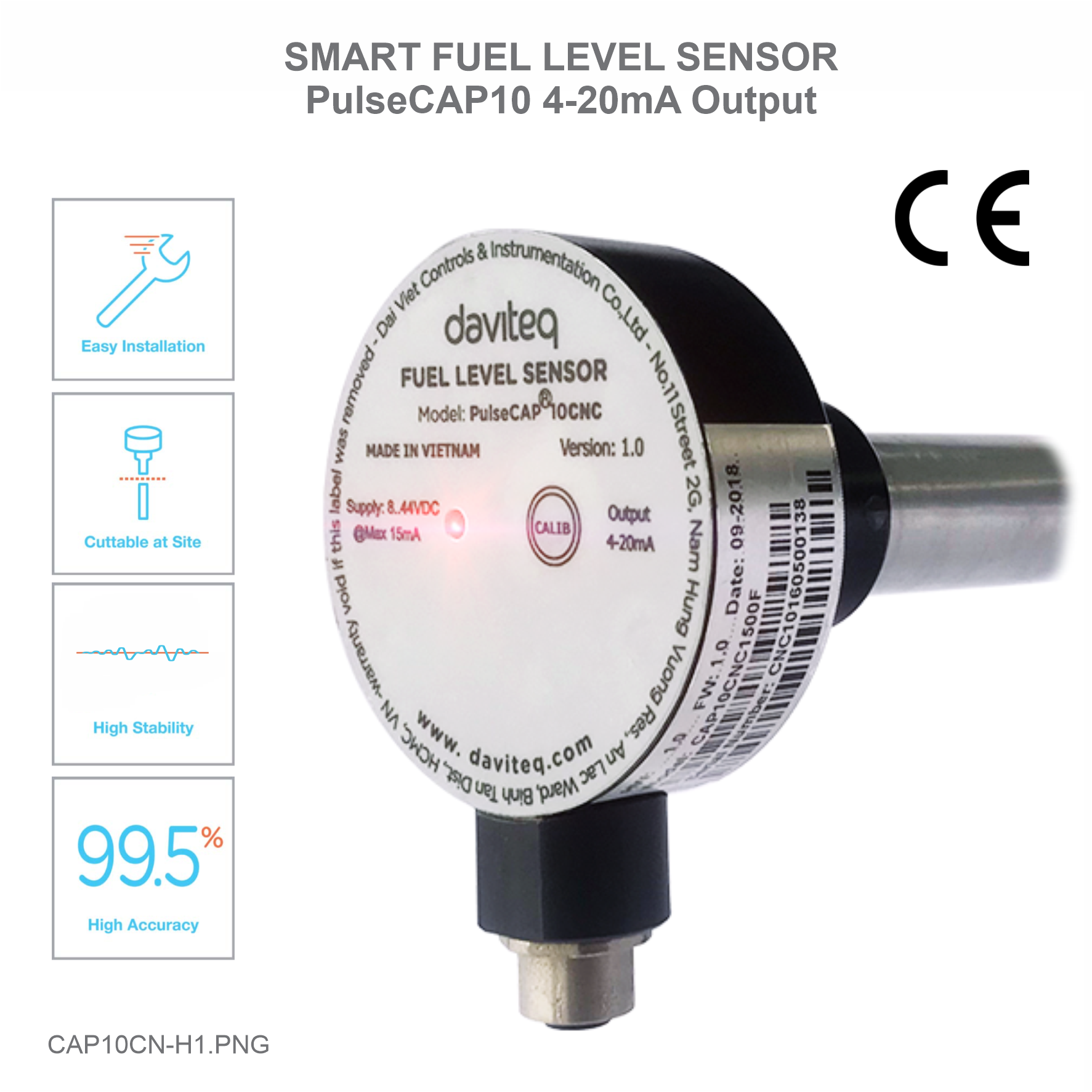 Fuel level sensor for Industrial Applications