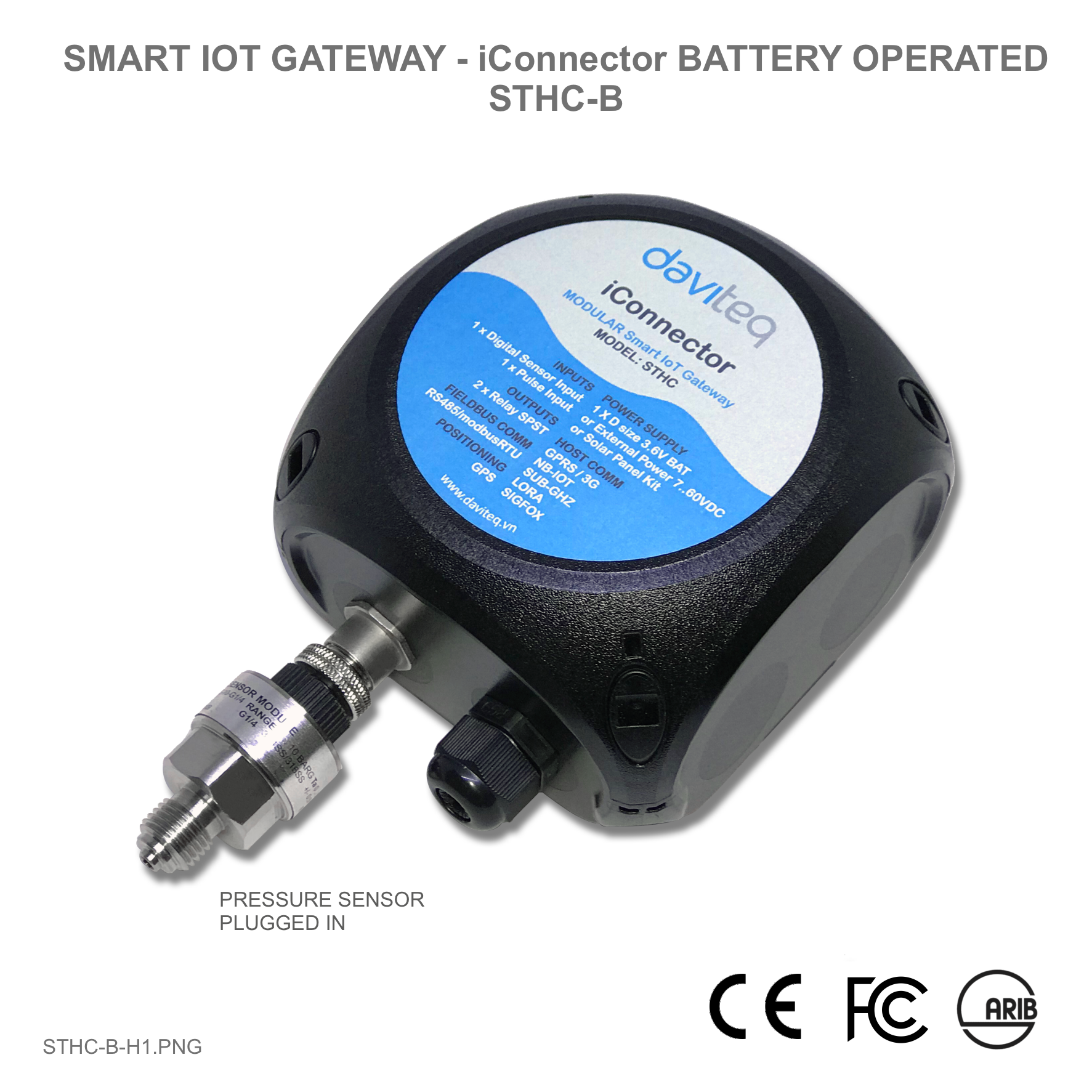 Smart IoT Gateway - iConnector Battery operated