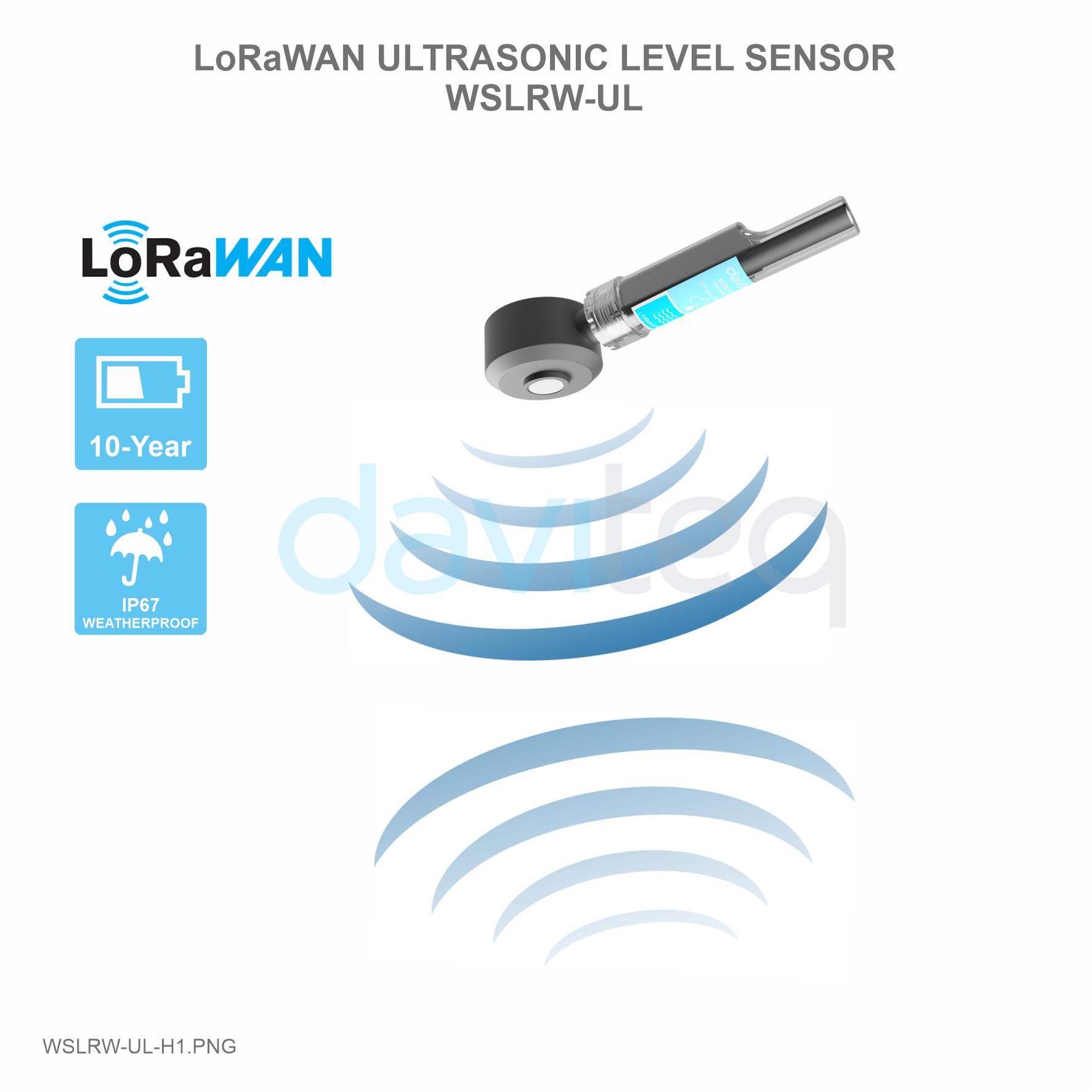 Cảm biến LoRaWAN đo mức siêu âm